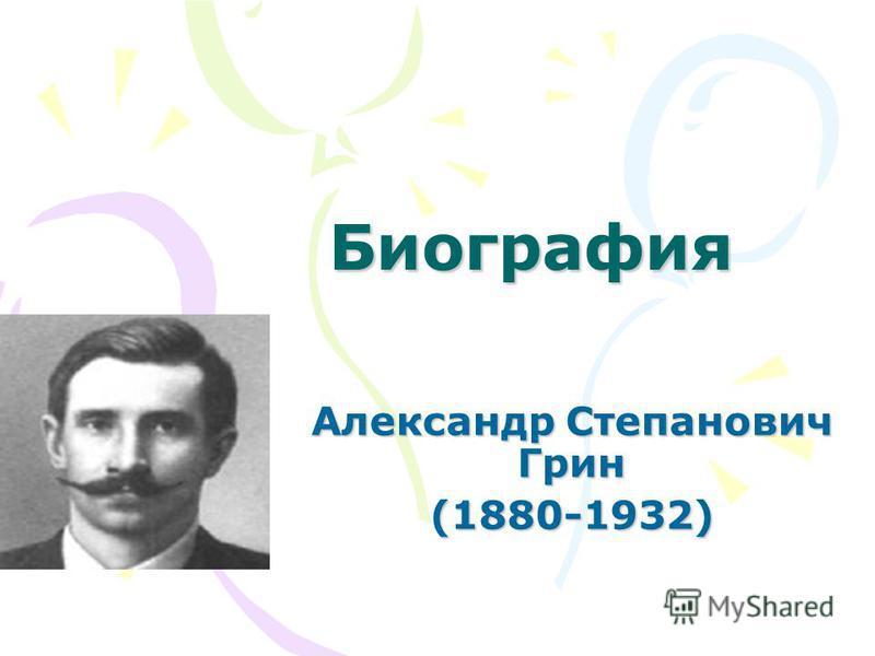 Биография Александр Степанович Грин (1880-1932)