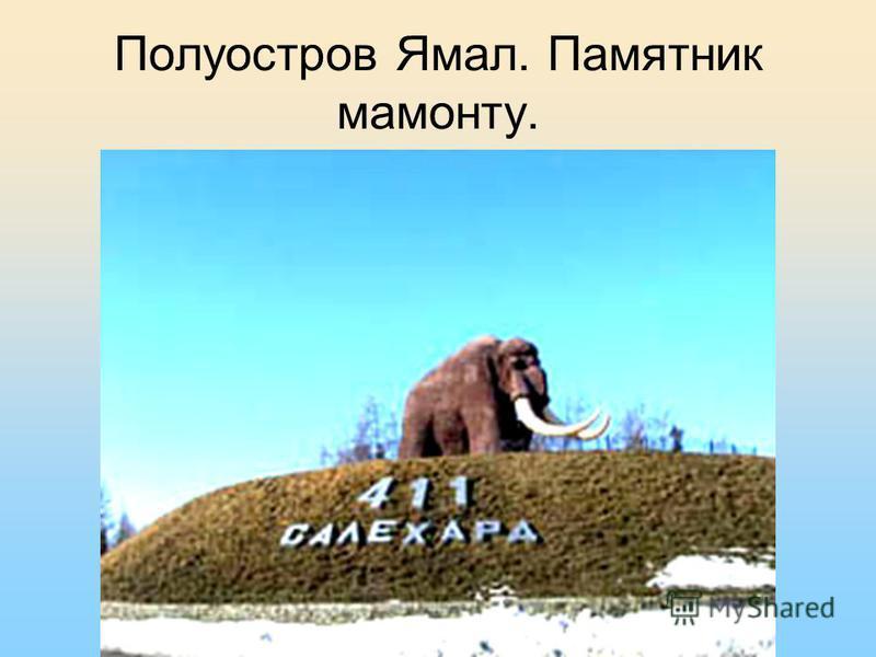 Полуостров Ямал. Памятник мамонту.