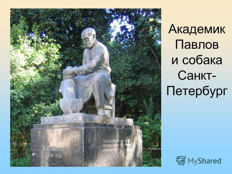 Академик Павлов и собака Санкт- Петербург