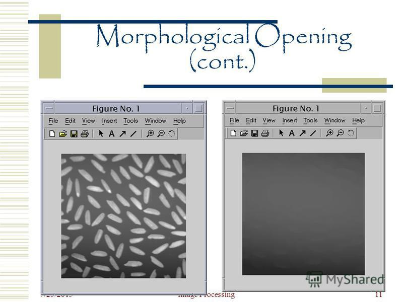 7/25/2015 Image Processing11 Morphological Opening (cont.)