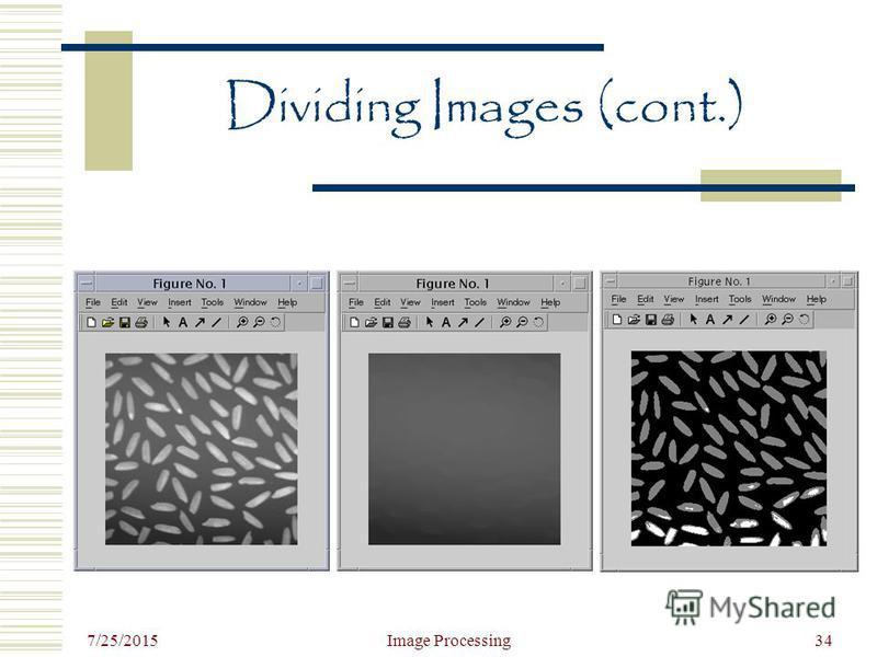 7/25/2015 Image Processing34 Dividing Images (cont.)