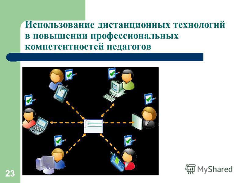 Использование дистанционных технологий в повышении профессиональных компетентностей педагогов 23