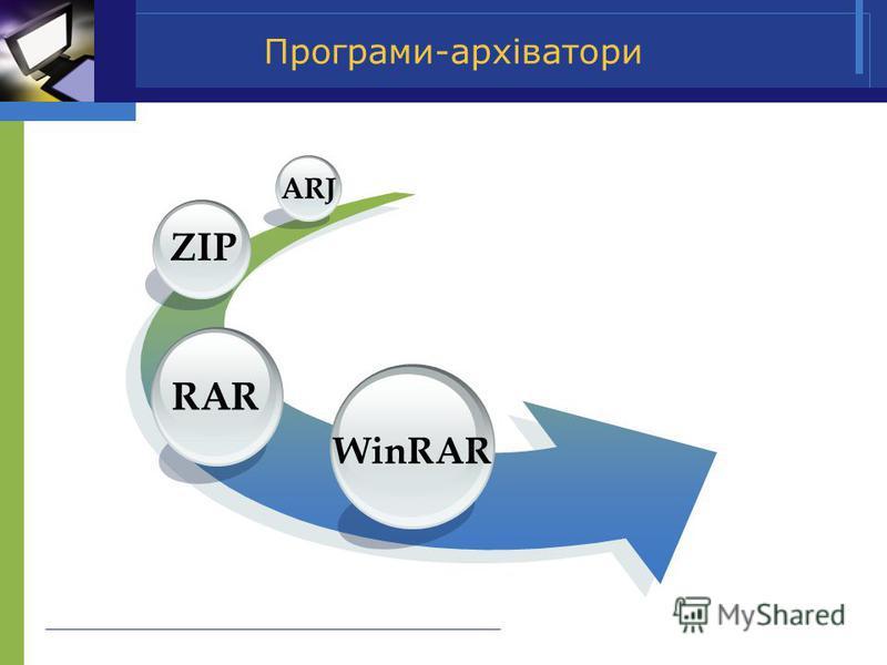 Програми-архіватори WinRAR RAR ZIP ARJ