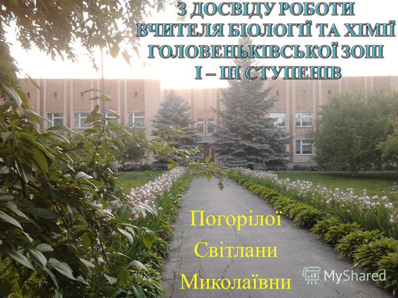 Погорілої Світлани Миколаївни