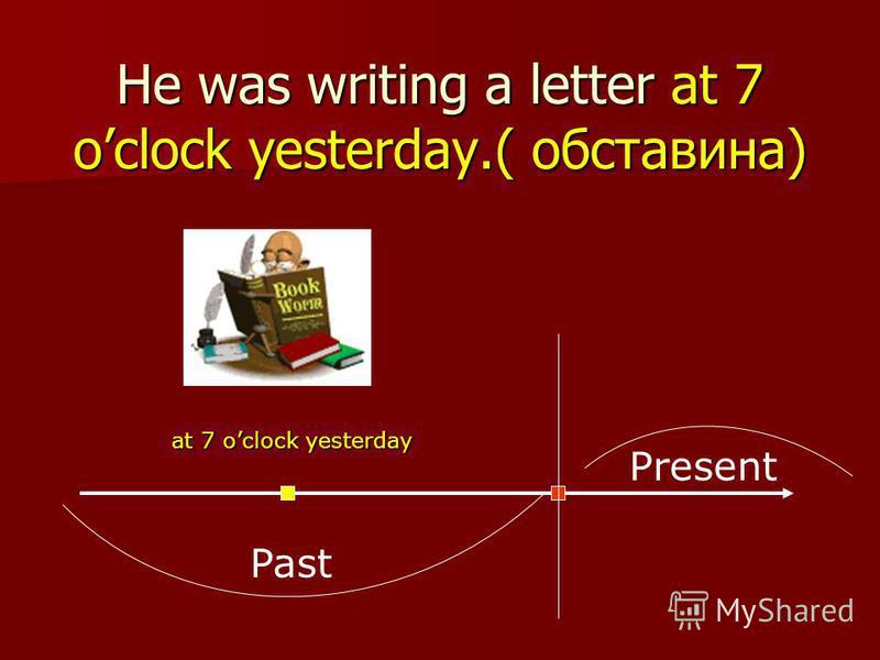 Часова форма утворюється з допоміжного дієслова TO BE в Past Simple (WAS/WERE) та -ing форми основного дієслова. I a book. They a book. was reading were reading