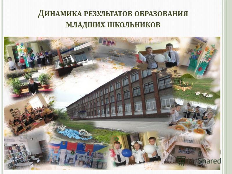 Д ИНАМИКА РЕЗУЛЬТАТОВ ОБРАЗОВАНИЯ МЛАДШИХ ШКОЛЬНИКОВ 2