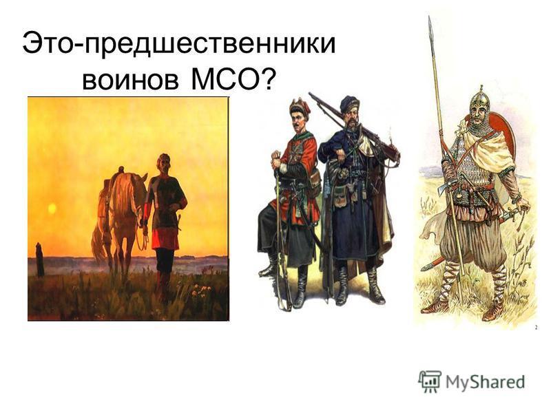 Это-предшественники воинов МСО?