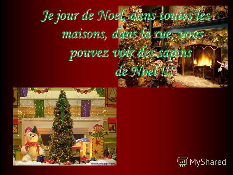 Je jour de Noel, dans toutes les maisons, dans la rue, vous pouvez voir des sapins de Noel !!! Je jour de Noel, dans toutes les maisons, dans la rue, vous pouvez voir des sapins de Noel !!!