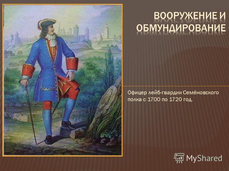 Офицер лейб-гвардии Семёновского полка с 1700 по 1720 год.