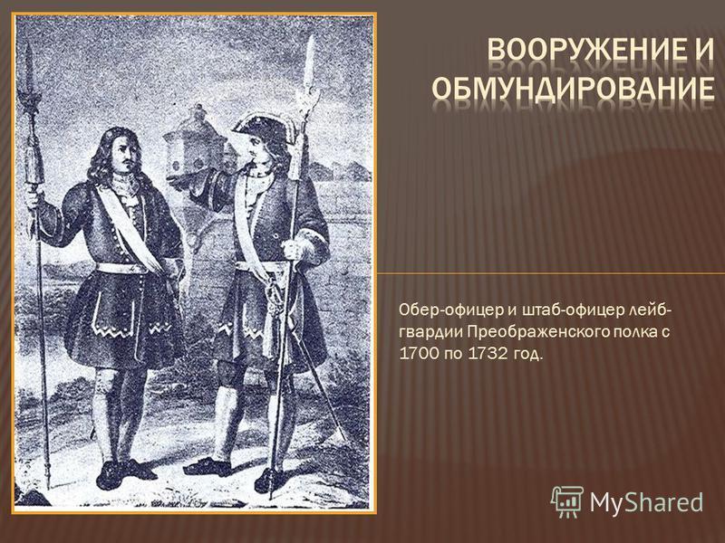 Обер-офицер и штаб-офицер лейб- гвардии Преображенского полка с 1700 по 1732 год.