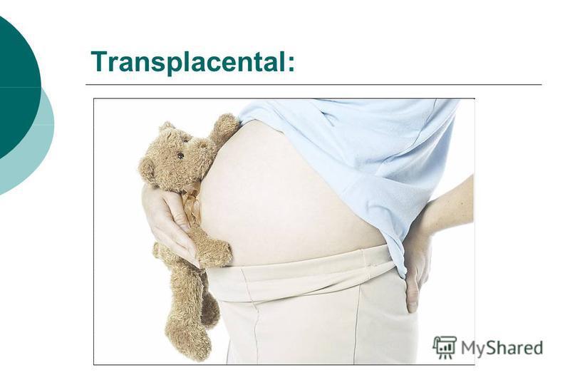 Transplacental: