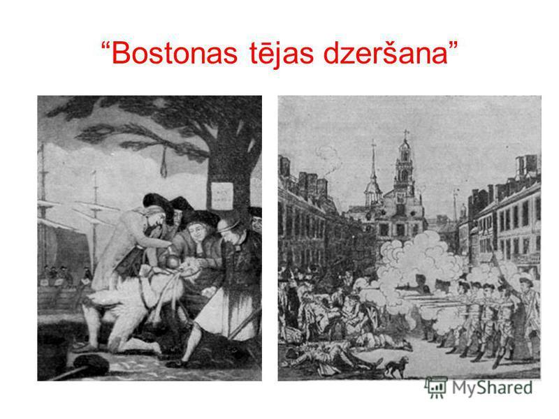 Bostonas tējas dzeršana