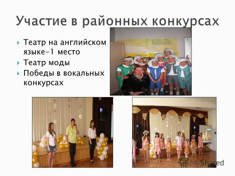 Театр на английском языке-1 место Театр моды Победы в вокальных конкурсах