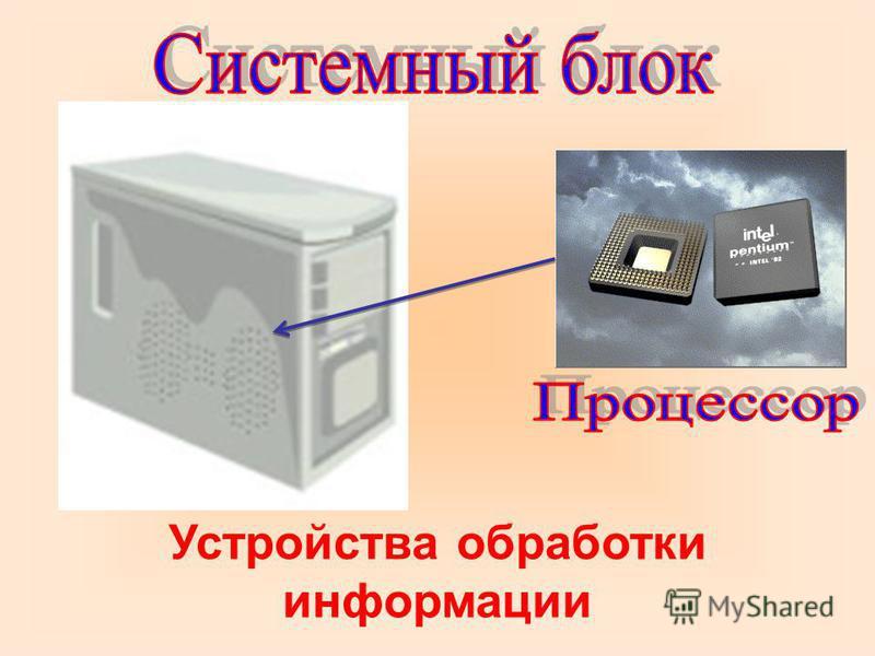 Устройства обработки информации