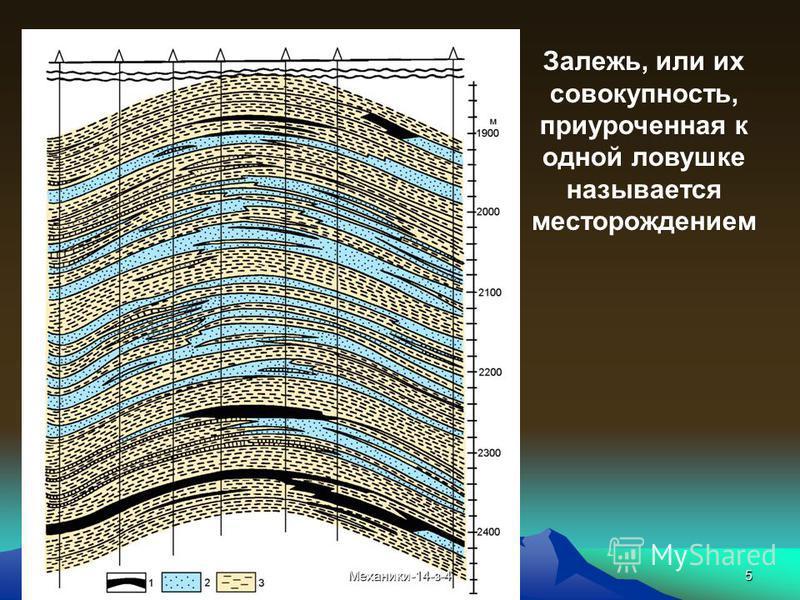 5 Залежь, или их совокупность, приуроченная к одной ловушке называется месторождением Механики-14-з-4