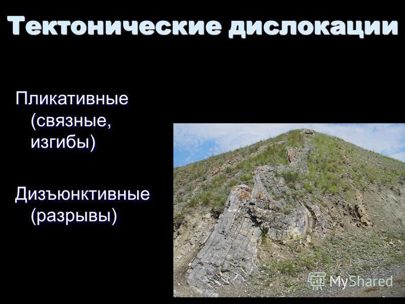Геологи-2014- л-3 24 Пликативные (связные, изгибы) Дизъюнктивные (разрывы) Тектонические дислокации