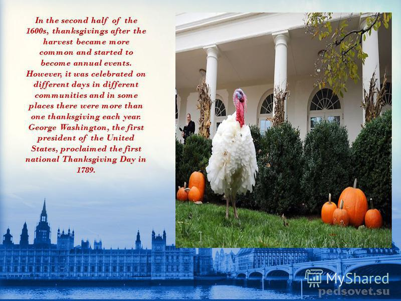 There are claims that the first Thanksgiving Day was held in the city of El Paso, Texas in 1598. Another early event was held in 1619 in the Virginia Colony. Many people trace the origins of the modern Thanksgiving Day to the harvest celebration that