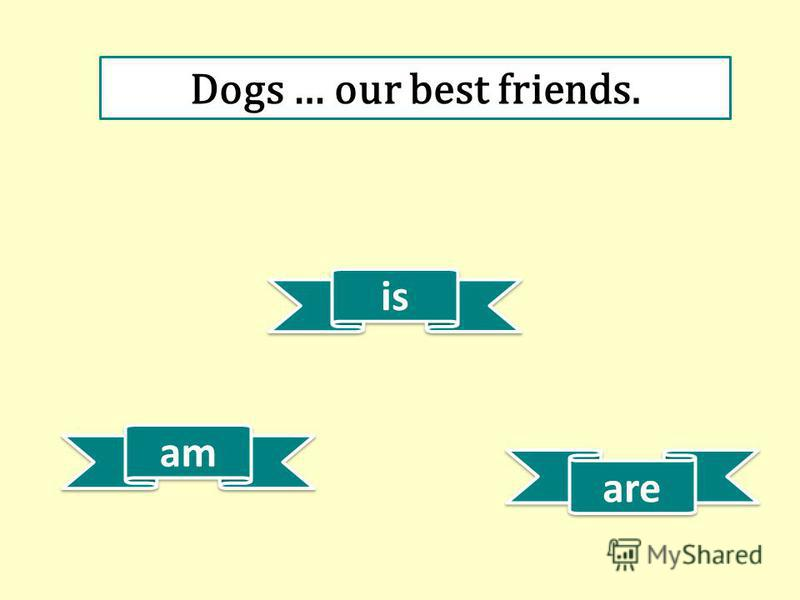 am is are Dogs … our best friends.