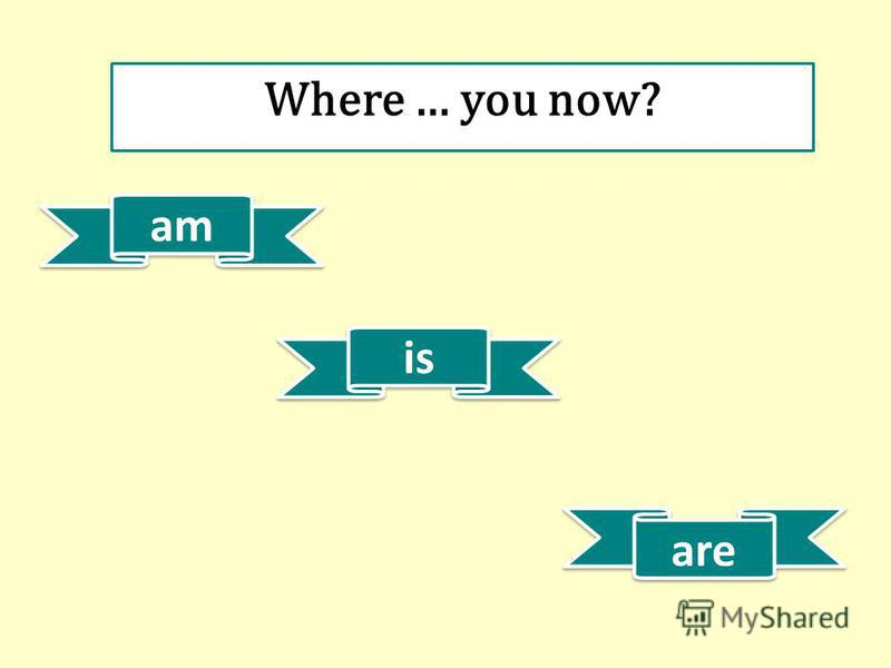 am is are Where … you now?