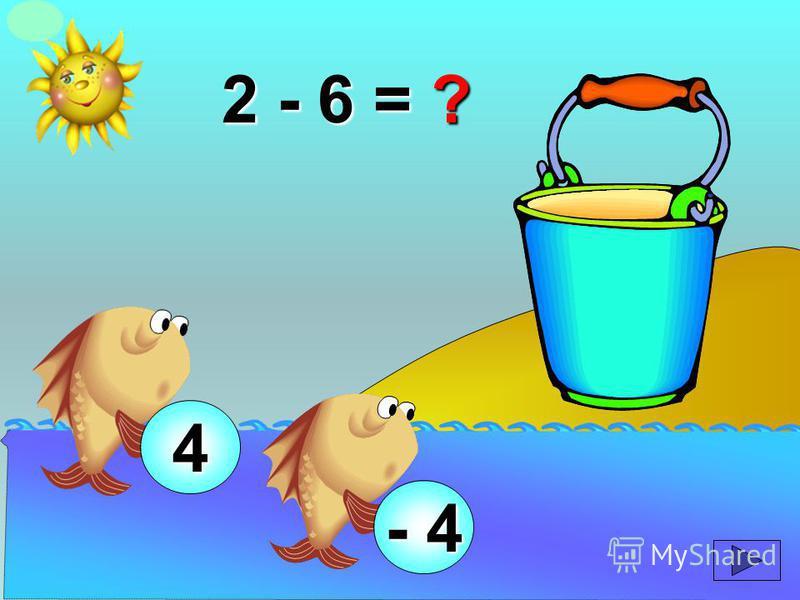 2 - 6 = ? 4 - 4