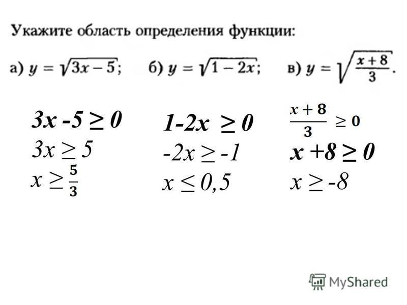 3 х -5 0 3 х 5 х 1-2 х 0 -2 х -1 х 0,5 х +8 0 х -8