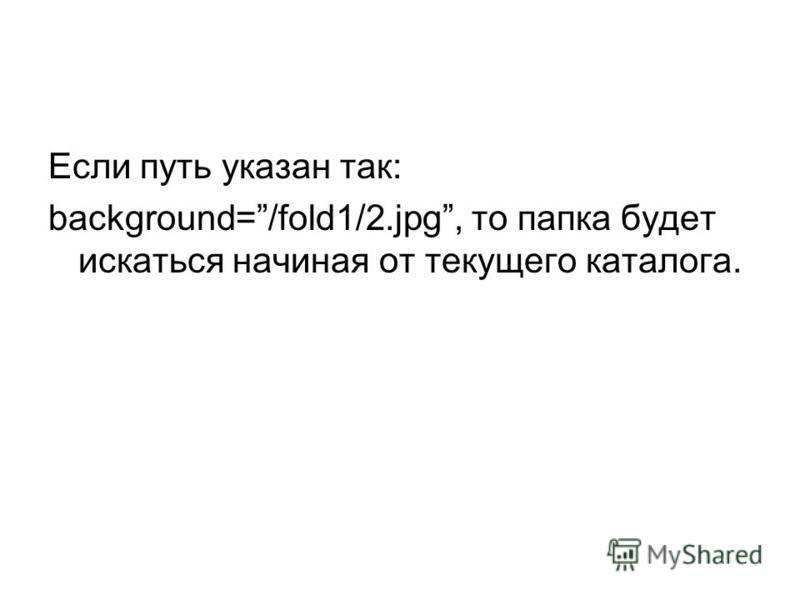 Если путь указан так: background=/fold1/2.jpg, то папка будет искаться начиная от текущего каталога.