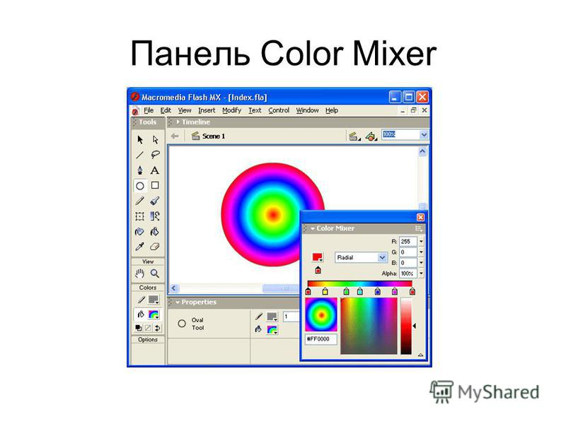 Панель Color Mixer