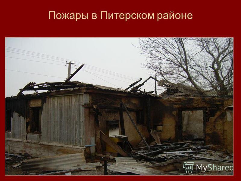 Пожары в Питерском районе
