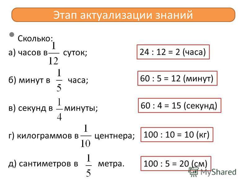 Решение задачи по математике 4 класс школа 2100 про дроби