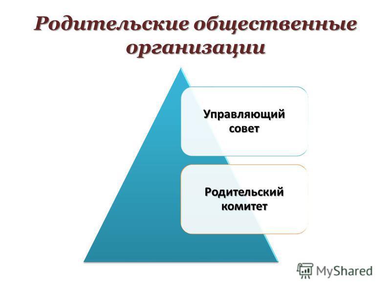Управляющий совет Родительский комитет Родительские общественные организации