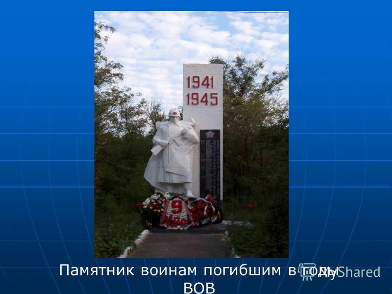 Памятник воинам погибшим в годы ВОВ