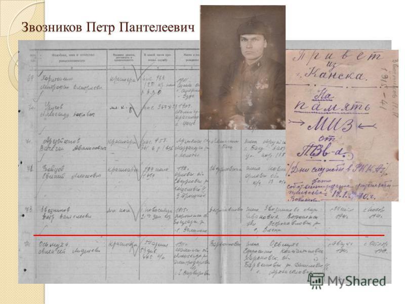 Звозников Петр Пантелеевич