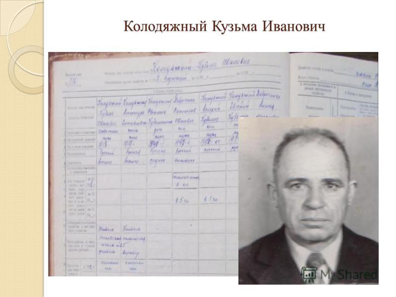 Колодяжный Кузьма Иванович