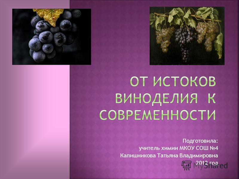 Подготовила: учитель химии МКОУ СОШ 4 Капишникова Татьяна Владимировна 2012 год