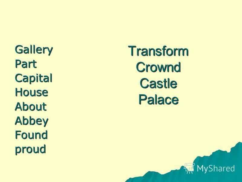 Transform Crownd Castle Palace GalleryPartCapitalHouseAboutAbbeyFoundproud