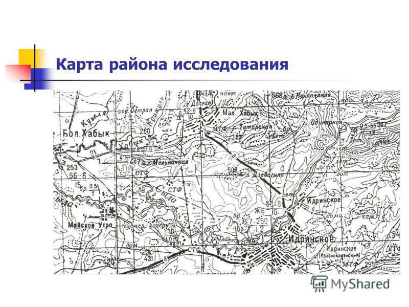 Карта района исследования