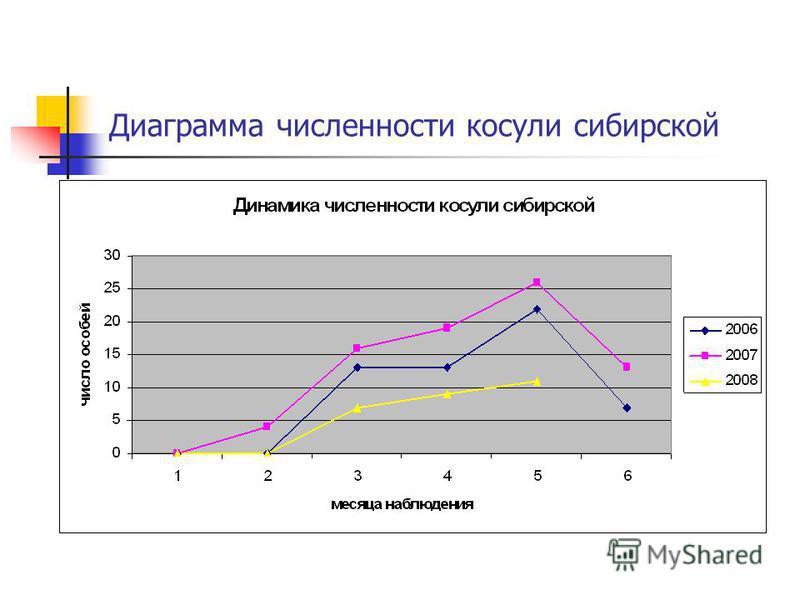Диаграмма численности косули сибирской