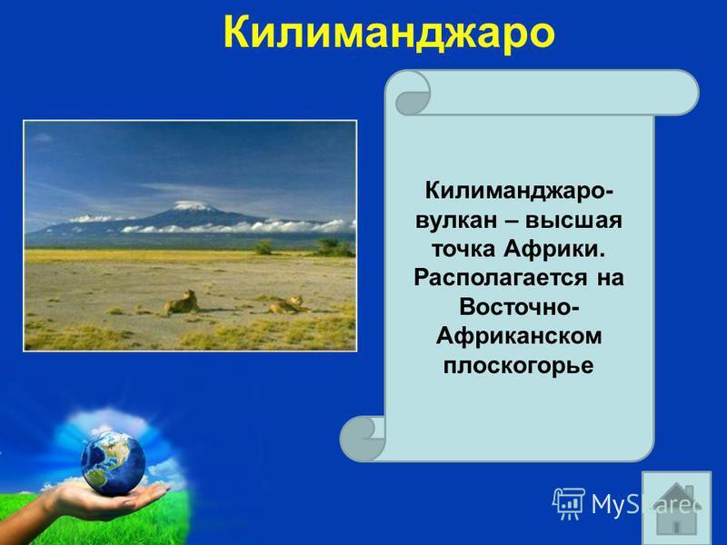 Free Powerpoint Templates Page 21 Килиманджаро Килиманджаро- вулкан – высшая точка Африки. Располагается на Восточно- Африканском плоскогорье