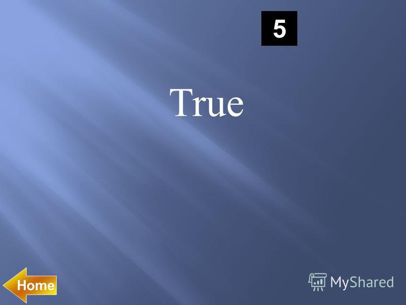 5 True
