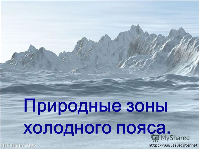 Природные зоны холодного пояса.