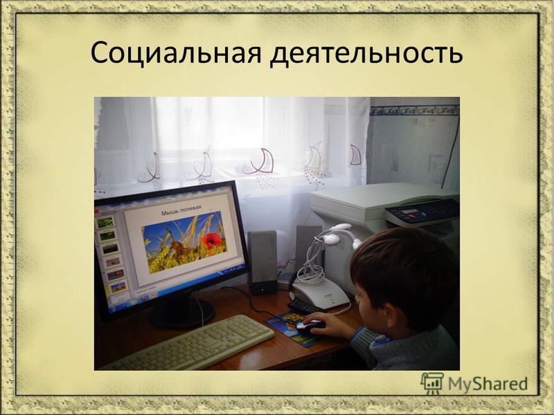 Социальная деятельность