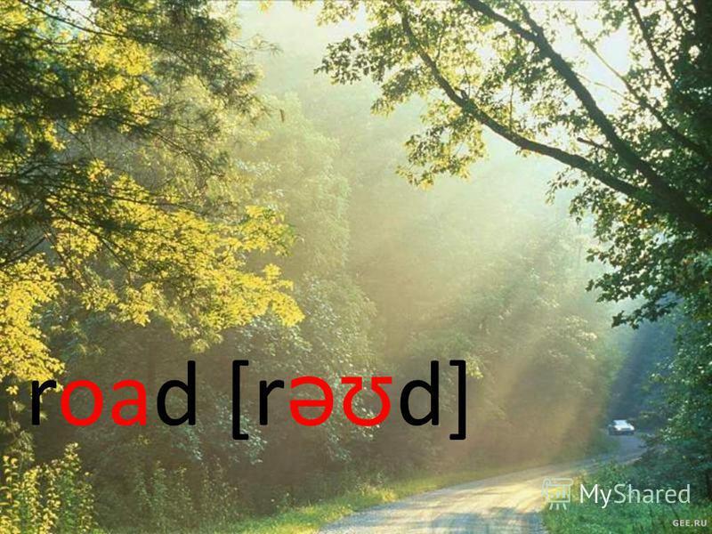 road [r əʊ d]