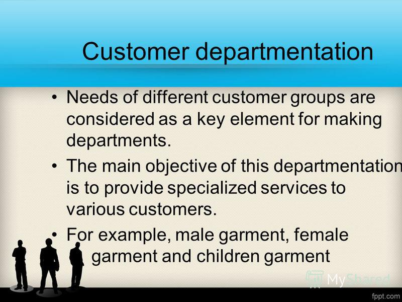departmentation management and example