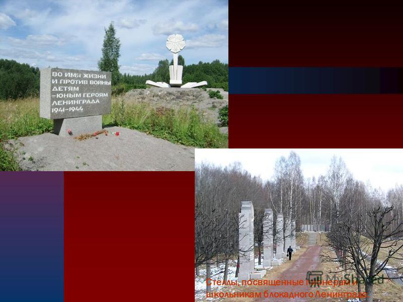 89 Стеллы, посвященные пионерам и школьникам блокадного Ленинграда.