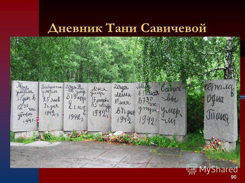 90 Дневник Тани Савичевой