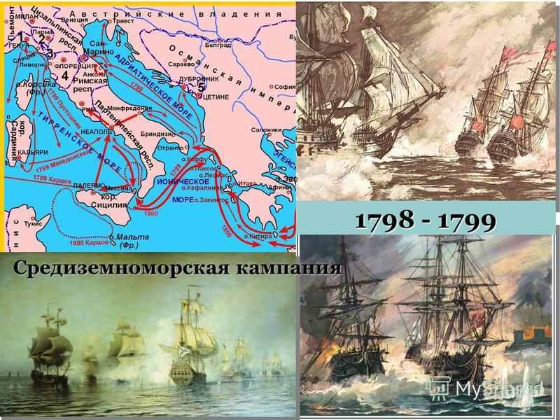 Средиземноморская кампания 1798 - 1799