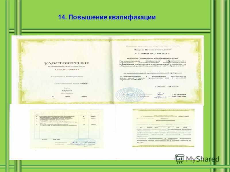 14. Повышение квалификации