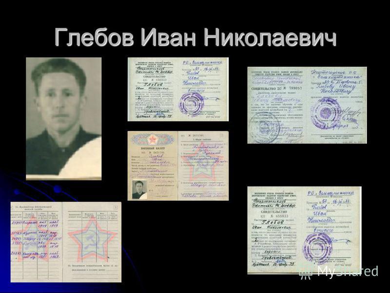 Глебов Иван Николаевич