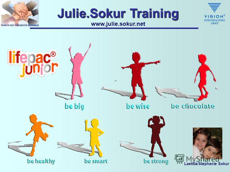 Laetitia/Stephanie Sokur Julie.Sokur Training www.julie.sokur.net Lifepac Junior