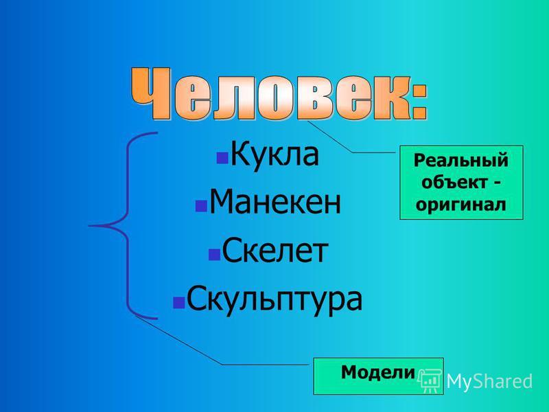 множество моделей одной моделью Один и тот же объект может иметь множество моделей, а разные объекты могут описываться одной моделью